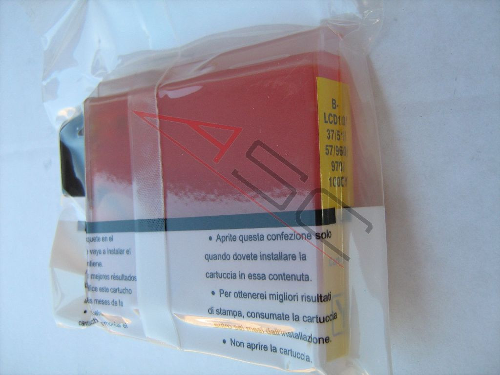 Encre (alternatif) compatible à Brother LC1000 jaune