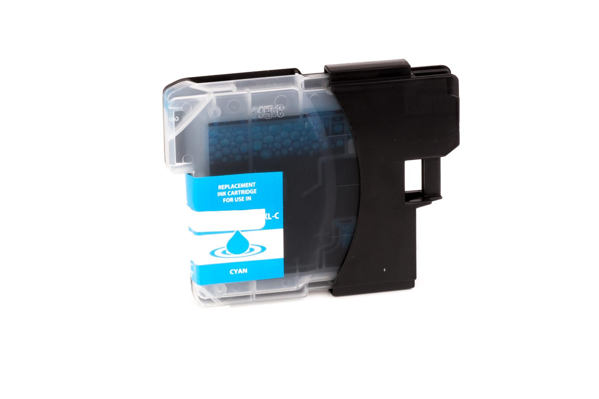 Encre (alternatif) compatible à Brother  LC980  LC1100  cyan