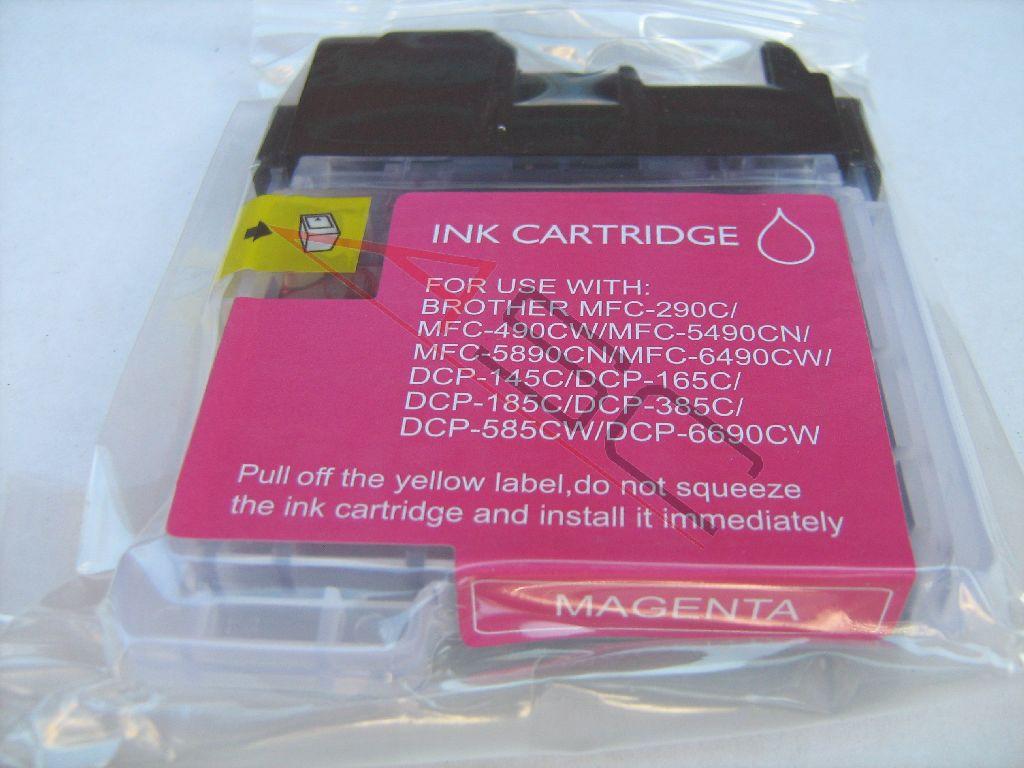 Encre (alternatif) compatible à Brother LC1100 magenta