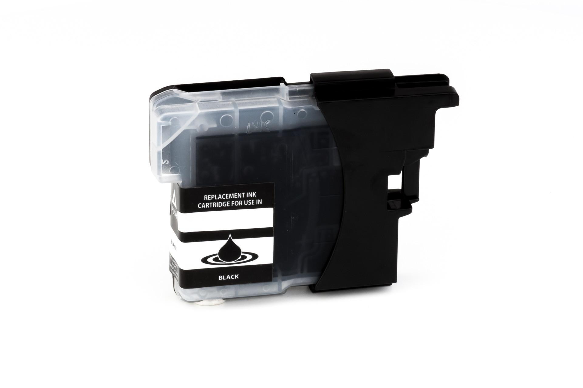 Encre (alternatif) compatible à Brother DCP-J 125/315 W/515 W/MFC-J 220/265 W/410/415 W/615 W LC985BK noir