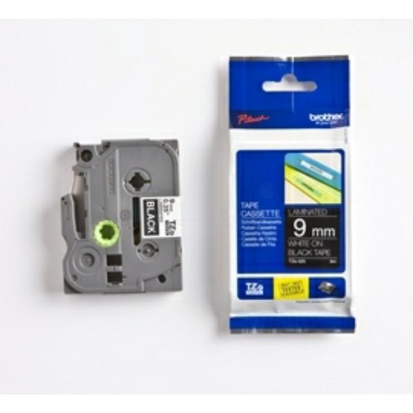 Original P-Touch Farbband Brother TZE325 weiß schwarz