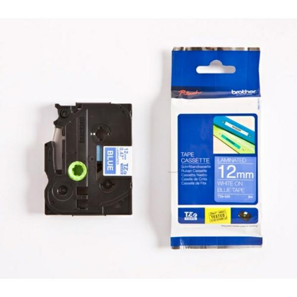 Original P-Touch Farbband Brother TZE535 weiß blau