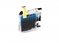 Encre (alternatif) compatible à Brother - LC125XLC/LC-125 XL C - DCP-J 4110 DW cyan
