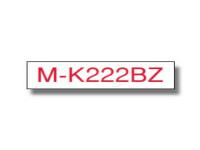 Original P-Touch Farbband Brother MK222BZ rot weiß