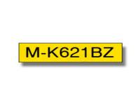 Original P-Touch Farbband Brother MK621BZ schwarz gelb